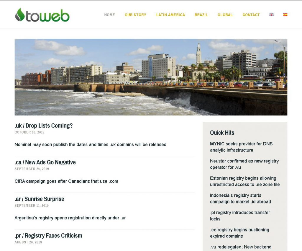 ccTLD Domain Names New and Comments.