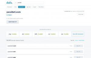 Domain Name Registrations .COM